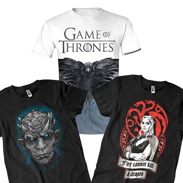 Varias camisetas Juego de Tronos