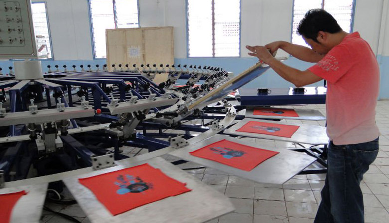 Máquina profesional para serigrafiar