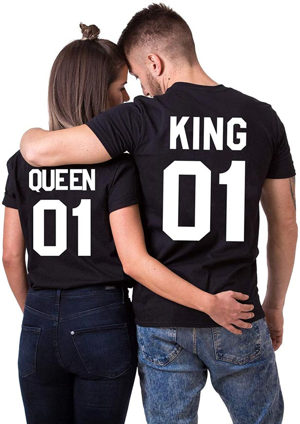Camisetas de Queen y King