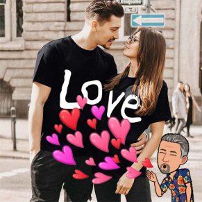 Camisetas para parejas, pregona tu amor a los cuatro vientos…