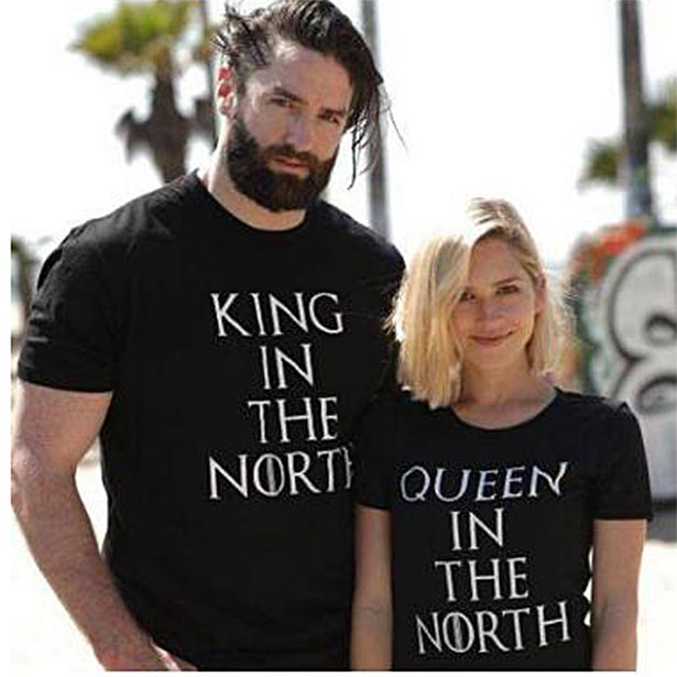 Camiseta King and Queen in the North