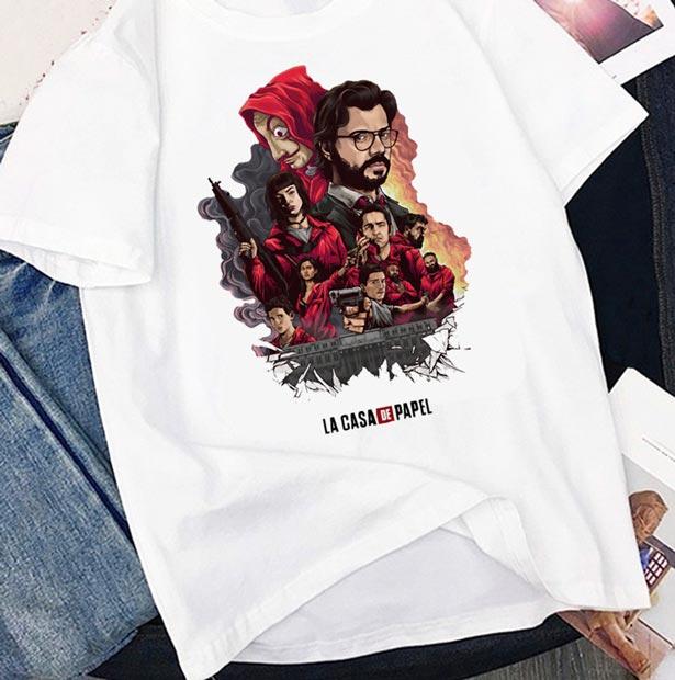 Camiseta de La Casa de Papel de grupo