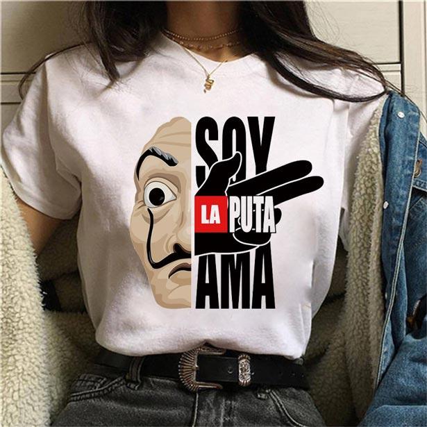 """Camiseta """"Soy la puta ama"""""""