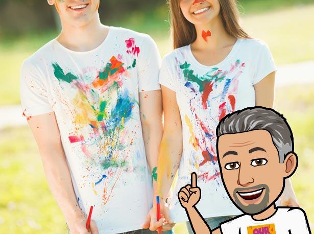 Cómo pinta camisetas a mano