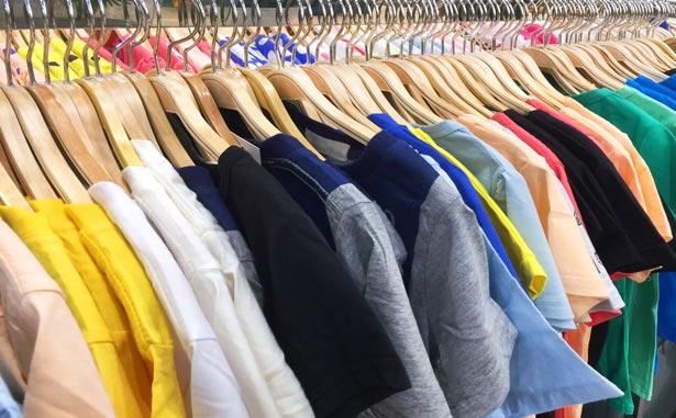 Diversidad de camisetas