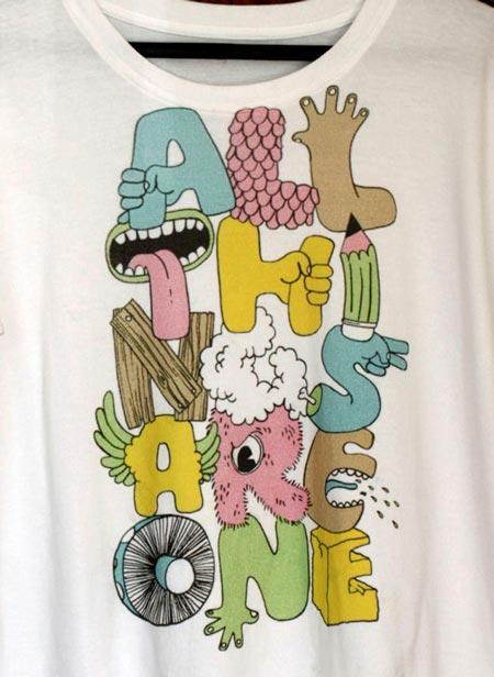 Ilustración en camiseta